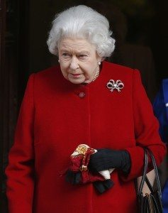 Britain's Queen Elizabeth leaves the King Edward VII hospital in London