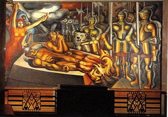 siqueiros-el-tormento-de-cuauhtemoc-1950-bellas-artes