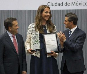 Foto: Entrega del Premio Nacional del Emprendedor.