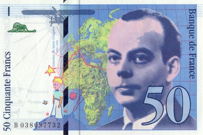 Billete de 50 francos (anverso)