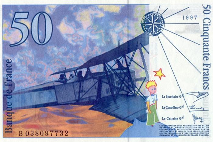Billete de 50 francos (reverso)