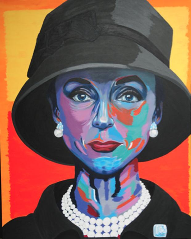 "José Martin, ""Retrato de Gloria Guiness"", 2014"