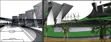 Una ciudad sustentable en Chihuahua, diseñada por Dante Sebastián Ruiz Tamayo, David Iván Calixto Chávez y Gustavo César Tizoc Ubriaco Contreras, de la UNAM.