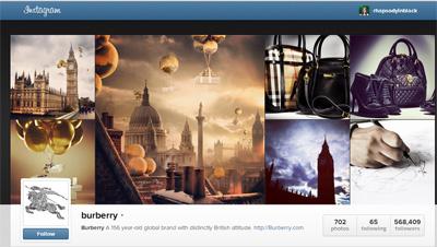 Los murales de Burberry incluyen desde fotos de sus productos hasta los paisajes más representativos de Londres.