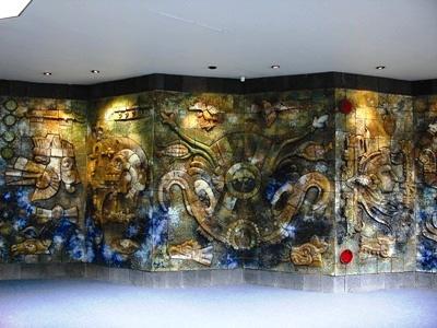 Mural Cosmogonía Náhuatl.