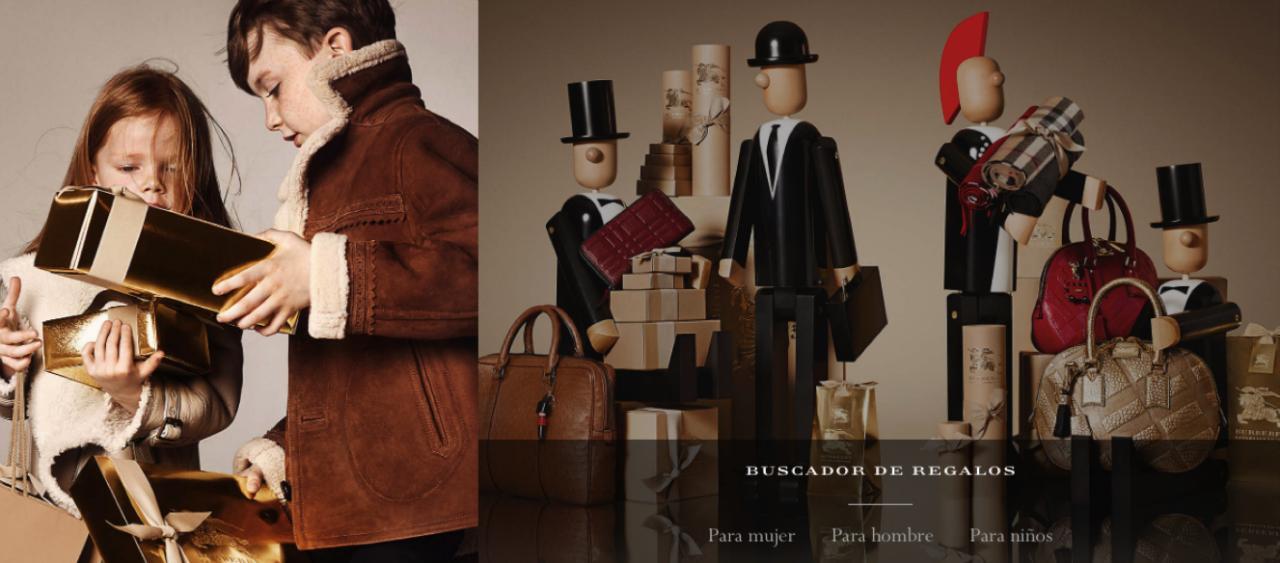 Imagen: web de Burberry con regalos para Navidad