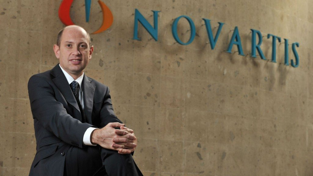 Alexis, Serlin, presidente y director general de Novartis en México.