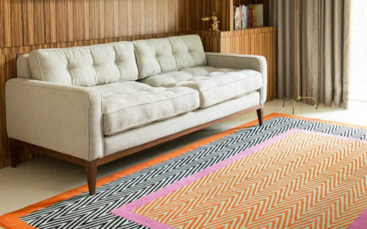 """""""Herringbone es una transformación de la técnica de tejido, con una paleta de colores con un choque inesperado."""""""