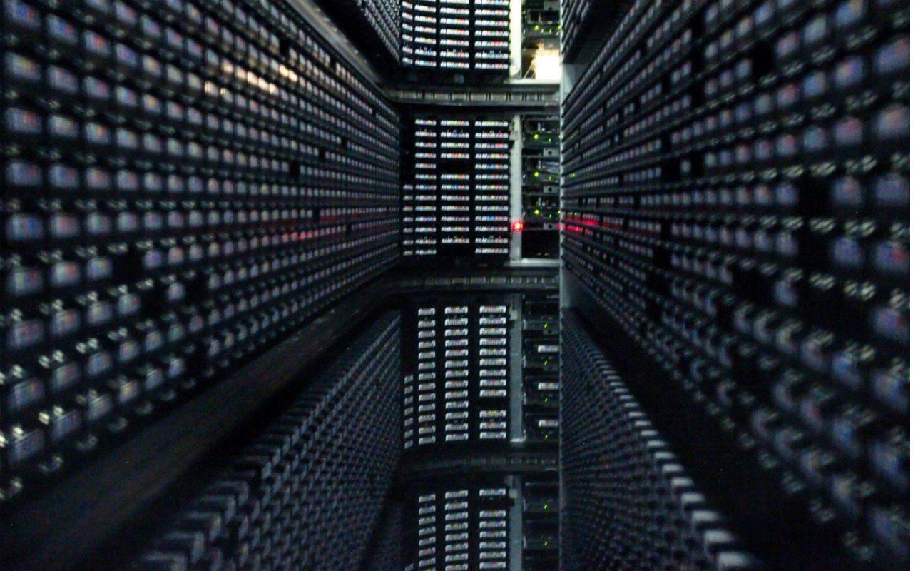 Interior de la compañía de almacenamiento de datos StorageTek (Foto: Antoni Gutiérrez).