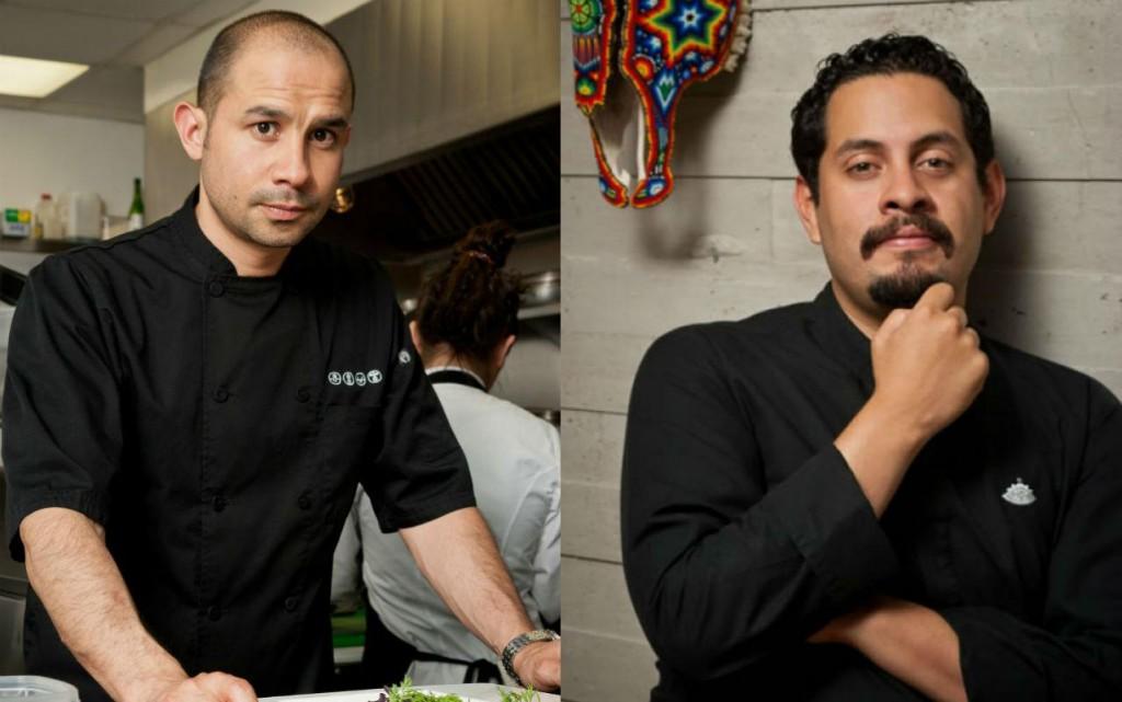Los chefs Alfredo Chávez e Israel Montero