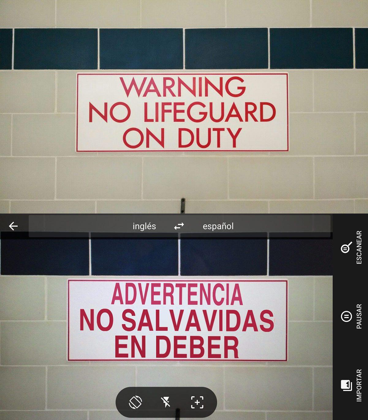 Original vs. traducción.
