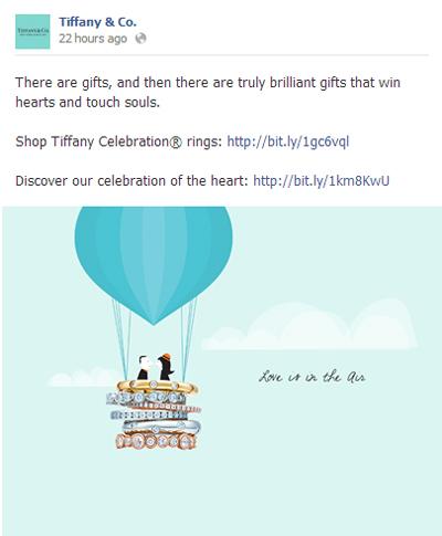 Post en Facebook de Tiffany San Valentín
