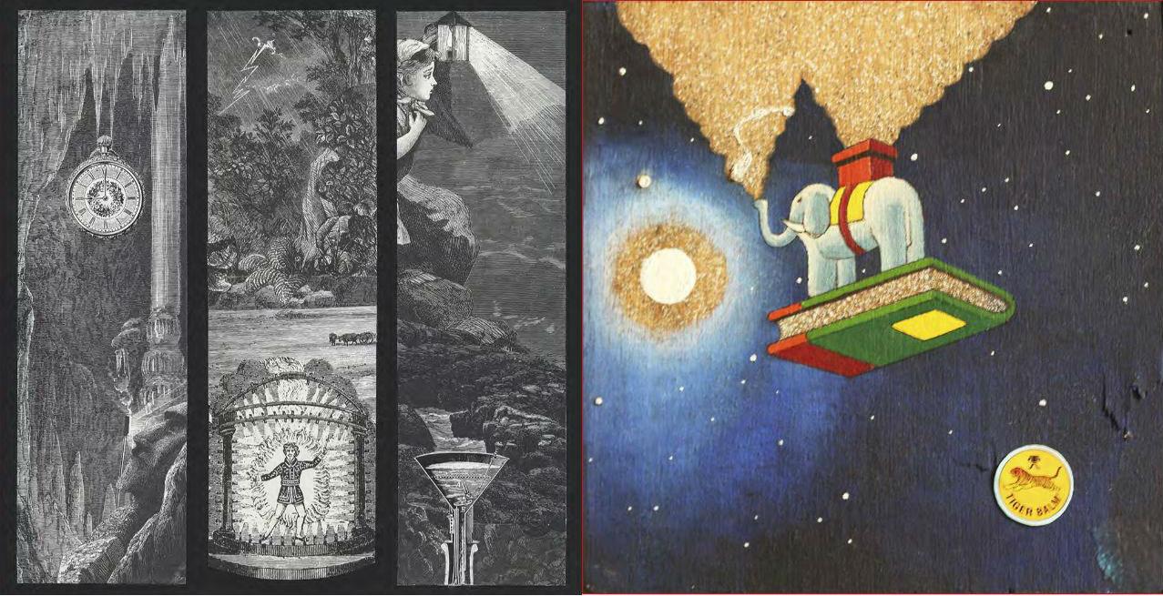 """'Las piedras del tiempo' (izq.) / De la serie """"Echa a volar la imaginación"""""""