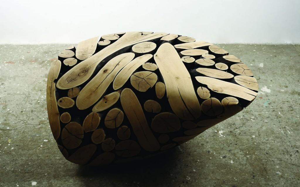 Foto: Escultura de madera de Castaño, que se encuentra en la Sección Principal de Zona MACO.