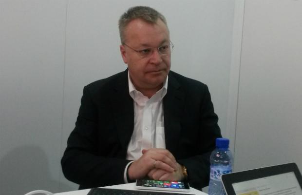 Stephen Elop. vicepresidente de dispositivos móviles de Microsoft en entrevista. (Forbes Staff).