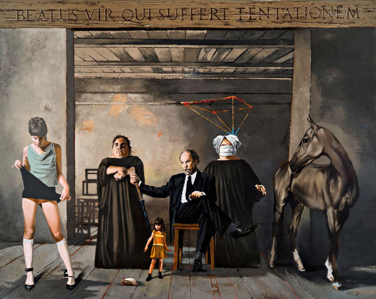"""""""Mise en scene"""", serie más reciente del pintor."""