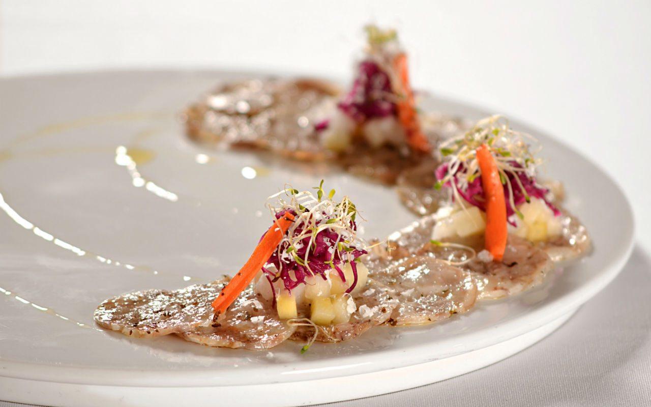 Carpaccio de manitas, del chef Pablo Salas