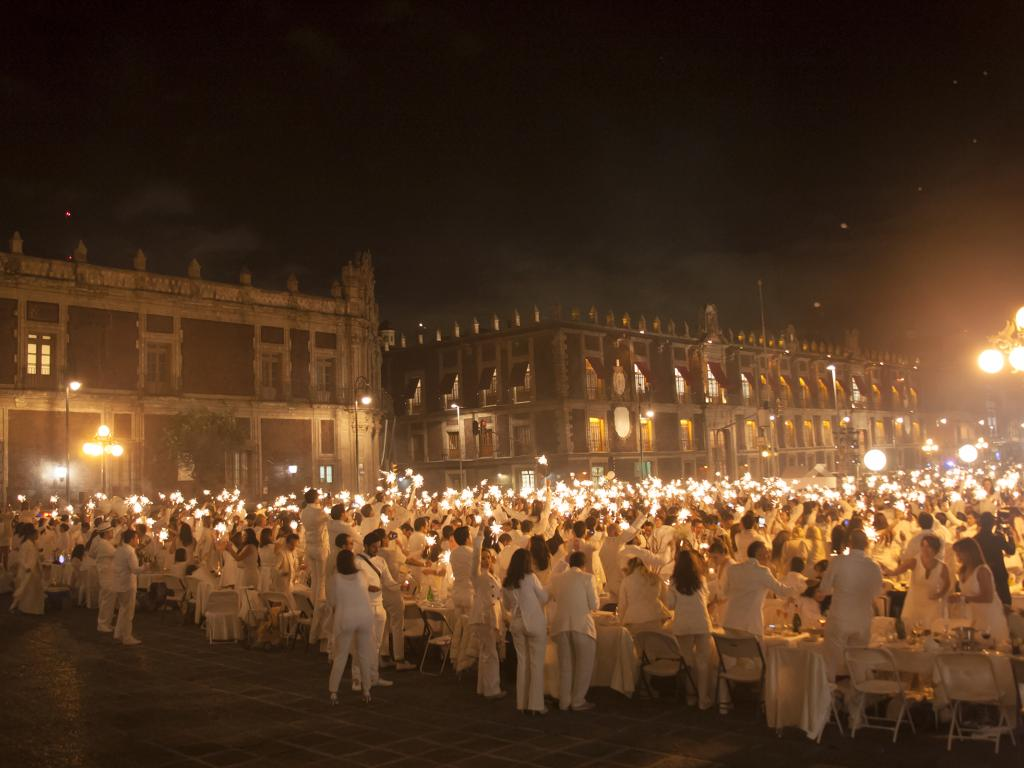 Le Dîner en Blanc en el mundo se celebra principalmente en América y Europa.