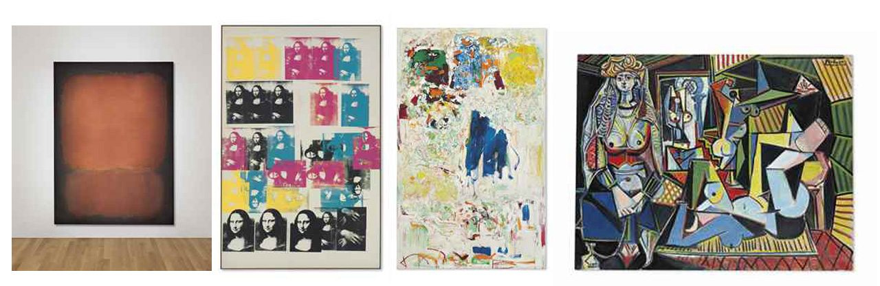 Rothko, Warhol, Mitchell y Picasso