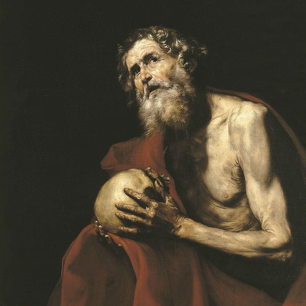 Ribera, San Jerónimo penitente. Uno de los pintores favoritos de la baronesa.