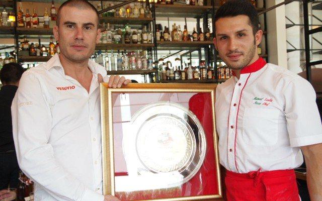 Los chefs de Vesuvio. Mauro Galante (izquierda) y Manuel Scalia (derecha).