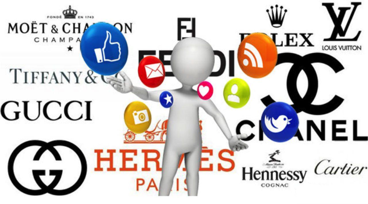Luxury brands social media