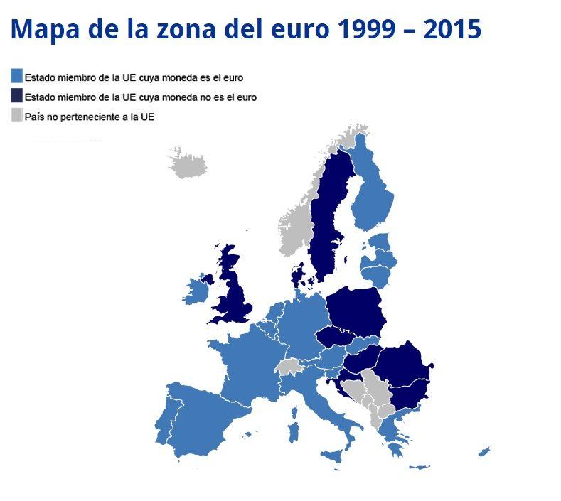 mapa Euro