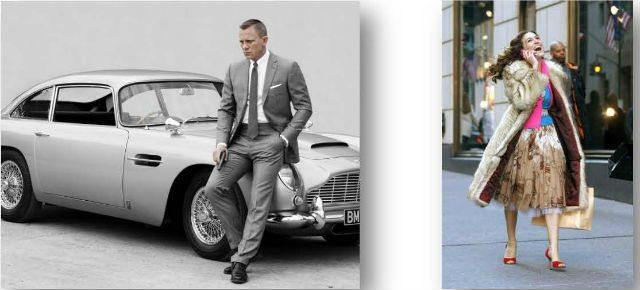 El sueño de ser James Bond. (Foto: jbsuits.com) / El estilo de vida neoyorkino de Sarah Jessica Parker. (Foto: bb_betablog)