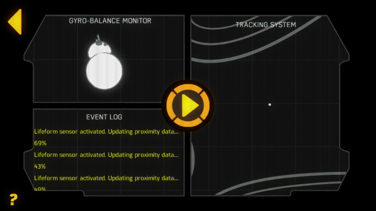 Así se ve la pantalla en la app cuando el BB-8 está en modo patrulla.