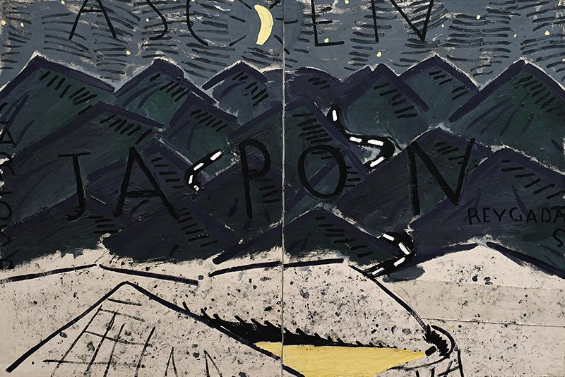Rose Wylie, Japon Driving