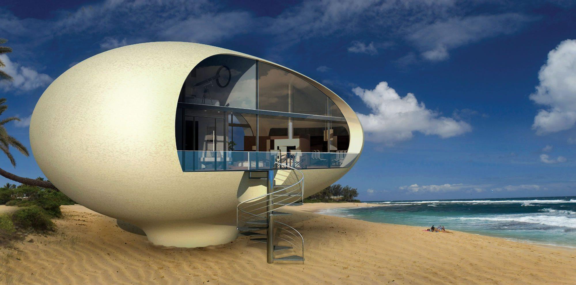 La cabaña de playa Sea-Suite. Foto: BMT Asia Pacific