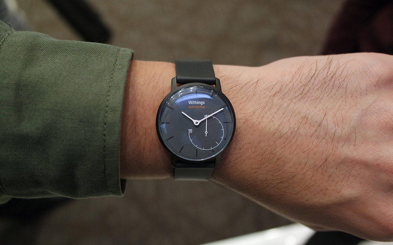 El Activité Pop de Withings es un smartwatch con aspecto convencional. (Foto: Staff.)