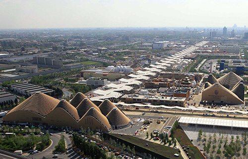 Vista aérea de la Expo
