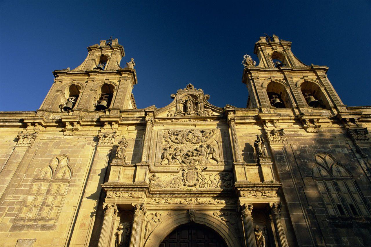 Fachada de la iglesia Santa María de los Reales, en Úbeda.