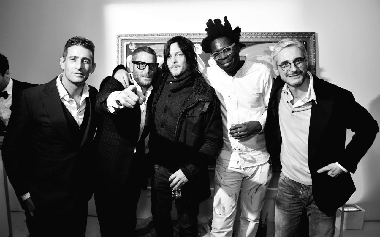 En la Foto, con Norman Reedus, Bradley Theodore y Andrea Tessitore en el after party tras inaugurar la boutique de Italia Independent en Nueva York en febrero de este año.