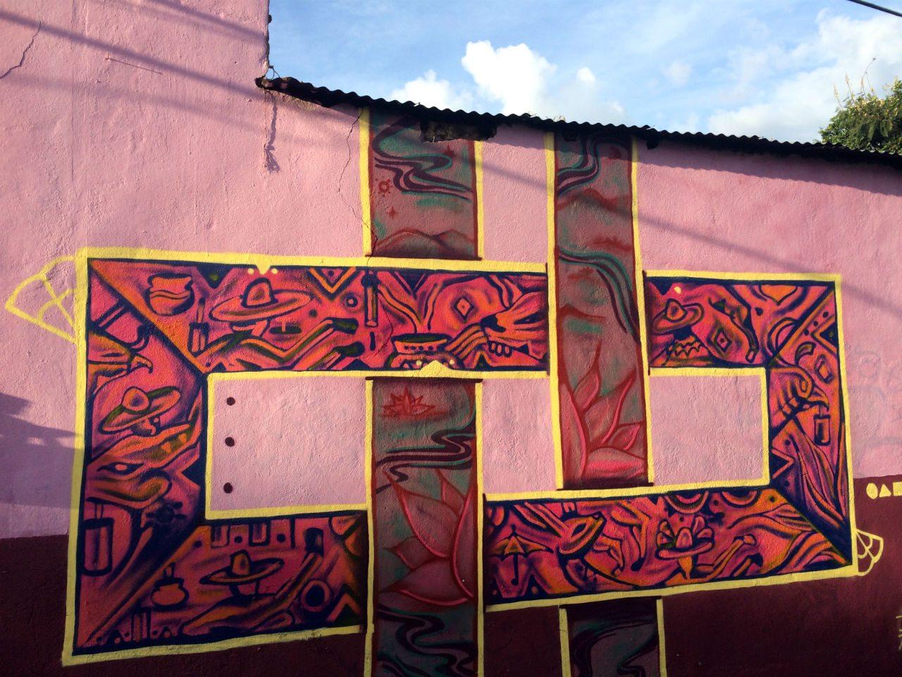 Mural en el barrio de Xochimilco.