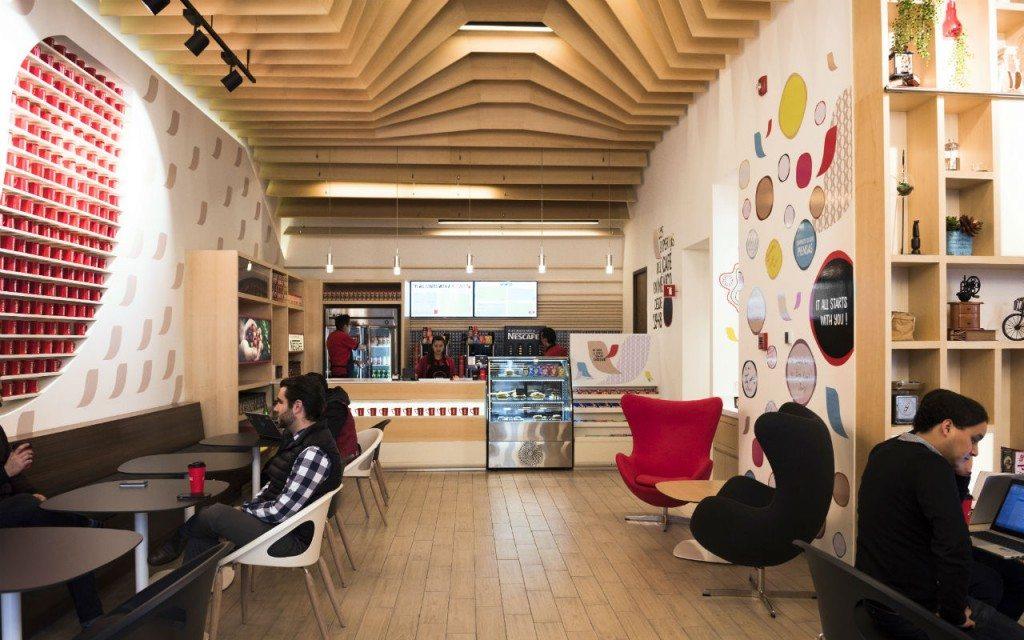 Primera cafetería de Nescafé en América (Foto: Nescafé).