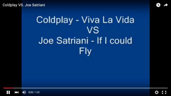 "VIDEO: ¿""Viva la vida"" de Coldplay basada en ""If I could fly"" de Joe Satriani?"