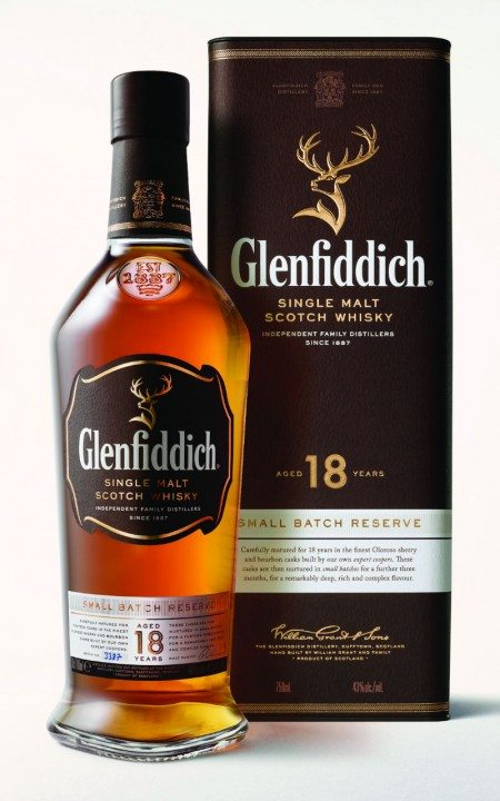 Glenfiddich 18 Year Old Pack Shot Small Batch Reserve