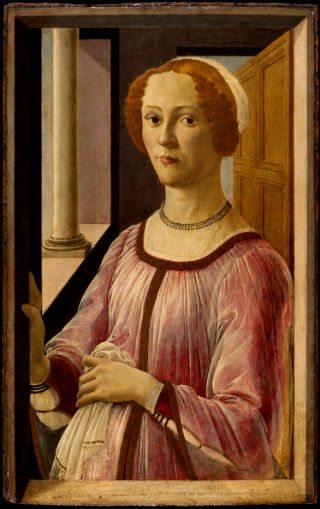 'Retrato de una dama, Smeralda Bandinelli', 1475, Sandro Botticelli, Victoria & Albert Museum, Londres. (Foto: vam.ac.uk)
