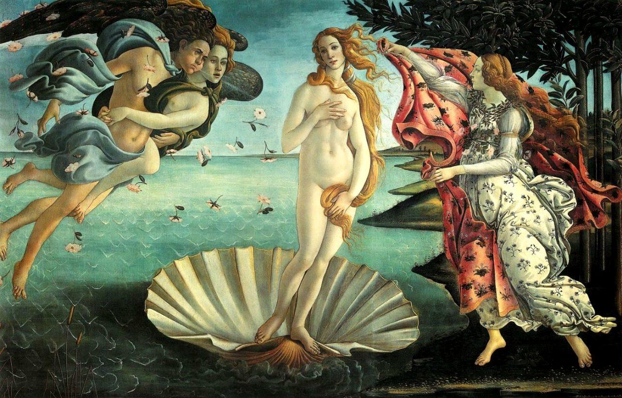 'El nacimiento de Venus', 1482, Sandro Botticelli, Galería de los Uffizi, Florencia. (Foto: uffizi.org)