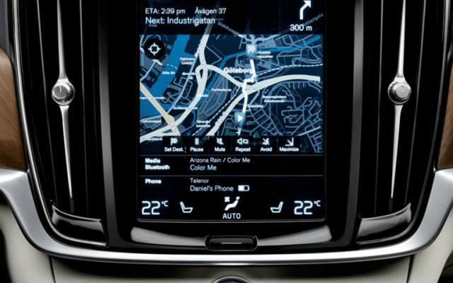 Pantalla interactiva del S90 de Volvo
