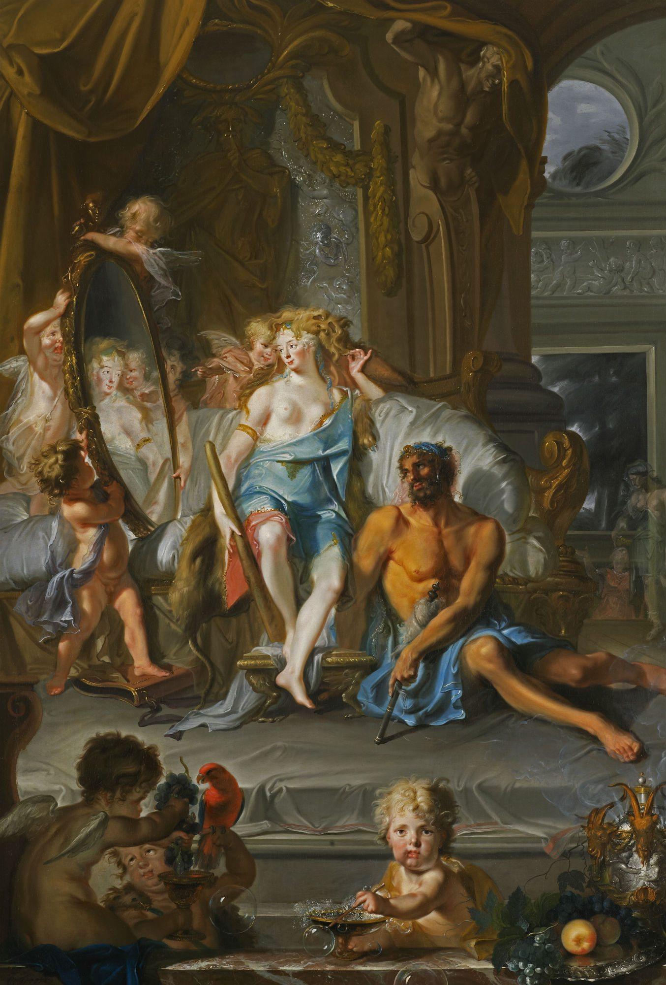 652_Cornelis Troost_Hercules en casa de Omphale_Oil on Canvas_238 x 170 cm_original