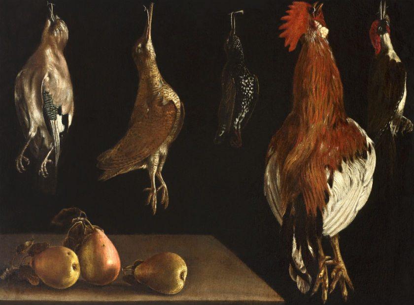 Alonso Escobar Stirling Maxwell Bodegon con peras y aves de corral