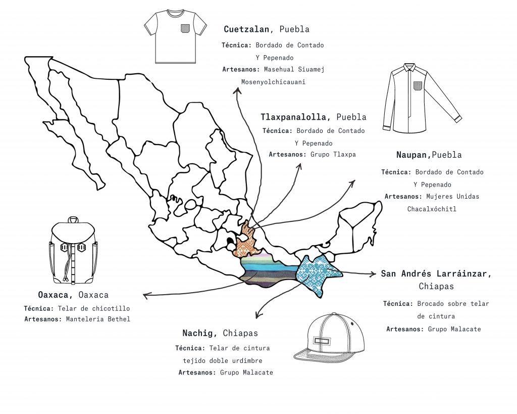 Mapa del trabajo de cada comunidad