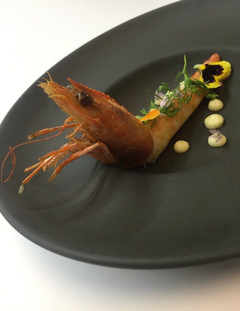 Foto: Yuca y camarón seco en crema ligera, como en el Paraíso.