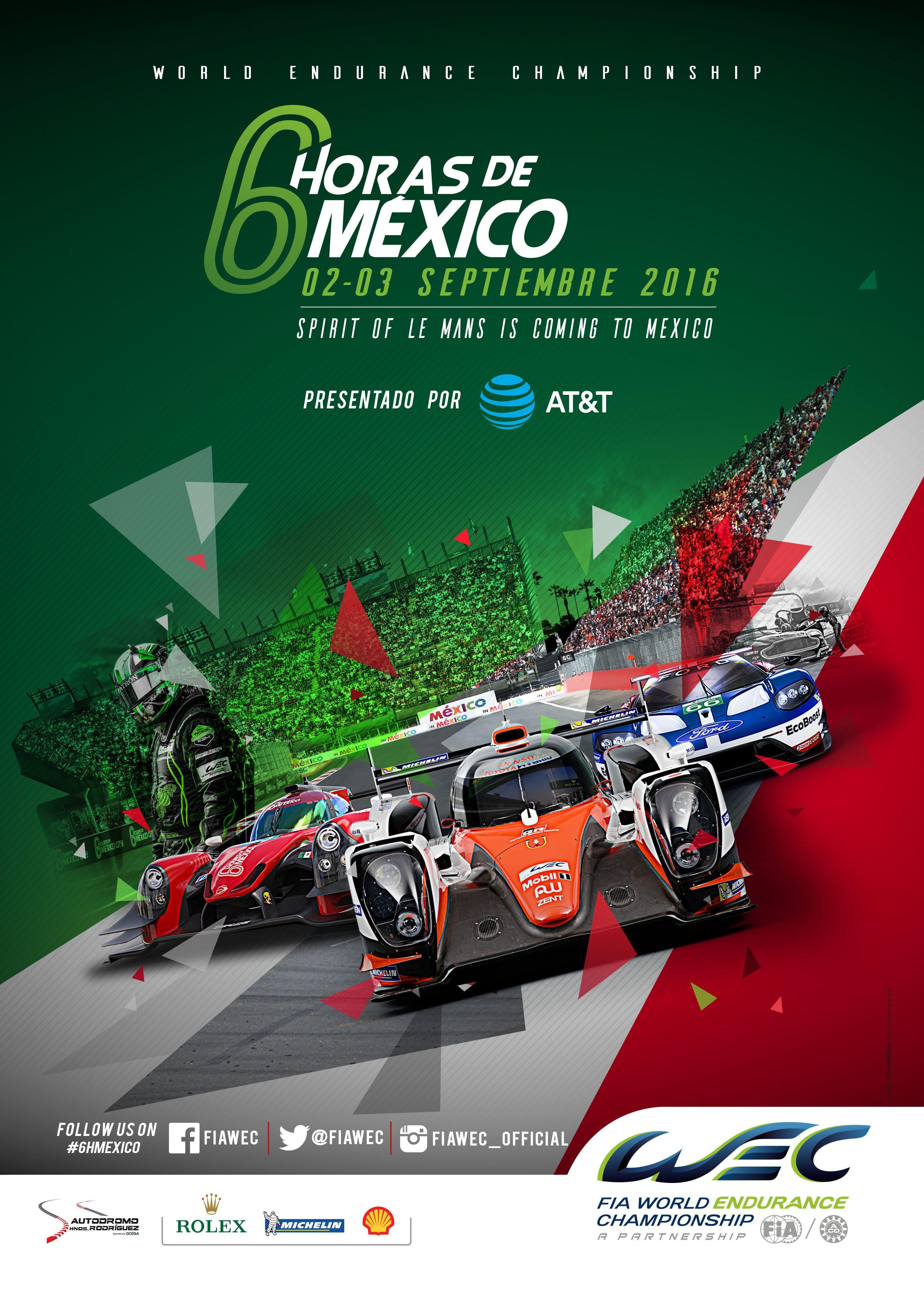 Cartela oficial del World Endurance Championship en La Ciudad de México