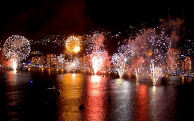 Acapulco, México en año nuevo.