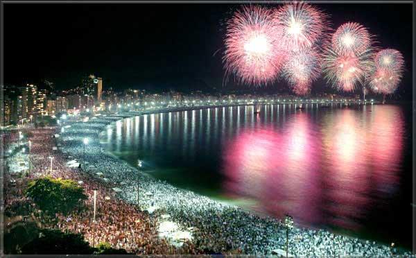 Río de Janeiro, Brasil. Año nuevo