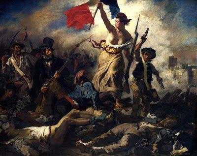 La Libertad guiando pintada por Eugène Delacroix en 1830